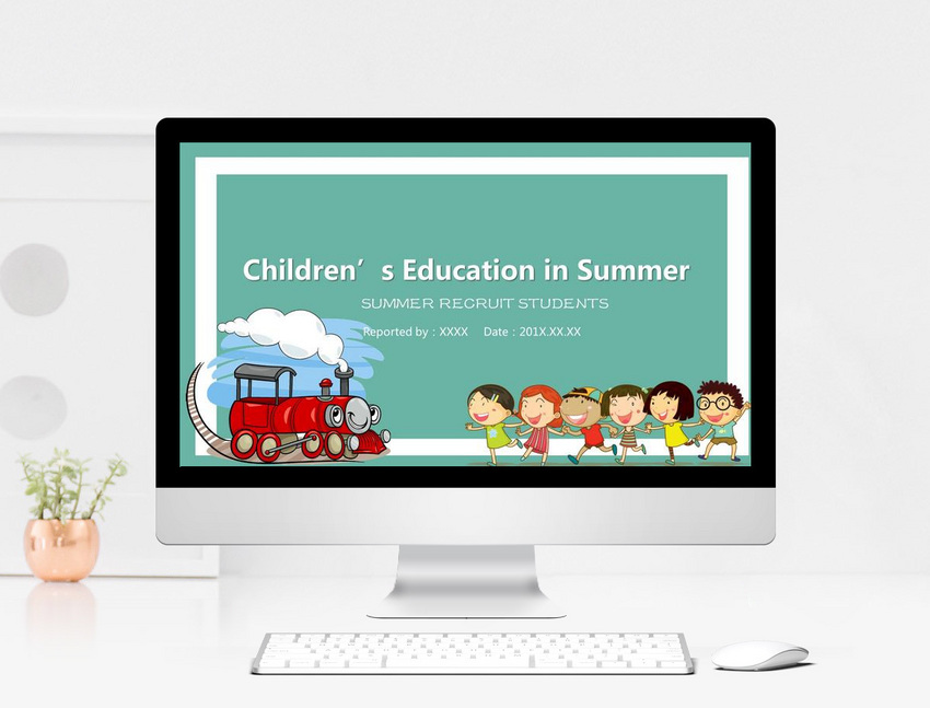 Report ppt template for childrens education summer camp activit report ppt template for childrens education summer camp activit toneelgroepblik Images
